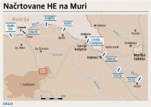 Načrtovane hidroelektrarne na Muri (Delo)